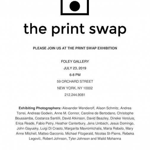 The print swap exhibition - Foley Gallery, New York 2019