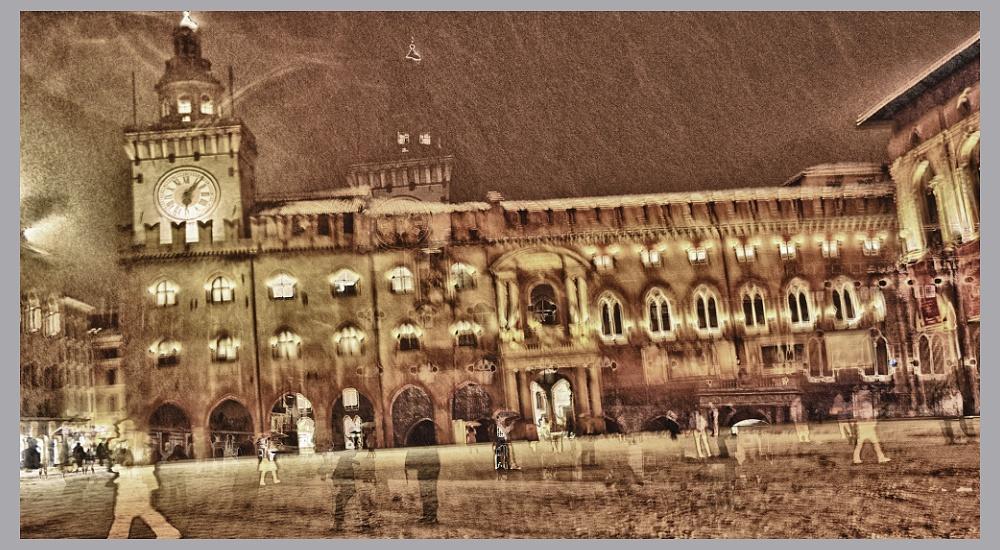 Bologna Dreams - Gost in the snow - Bologna,landscape,digital,art,fine,Stefano Bertolucci,photographer,photography,