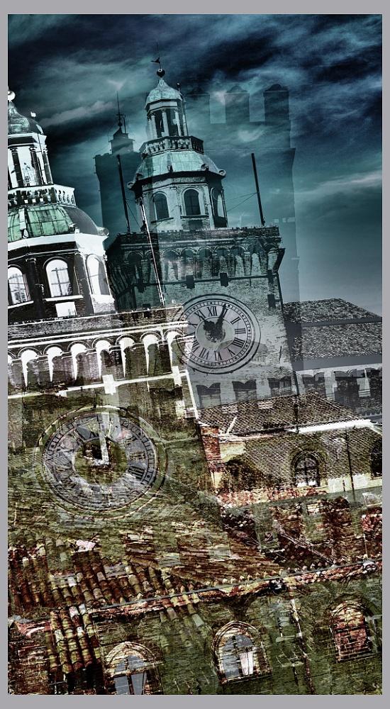 Bologna Dreams - God Clock - Bologna,landscape,digital,art,fine,Stefano Bertolucci,photographer,photography,